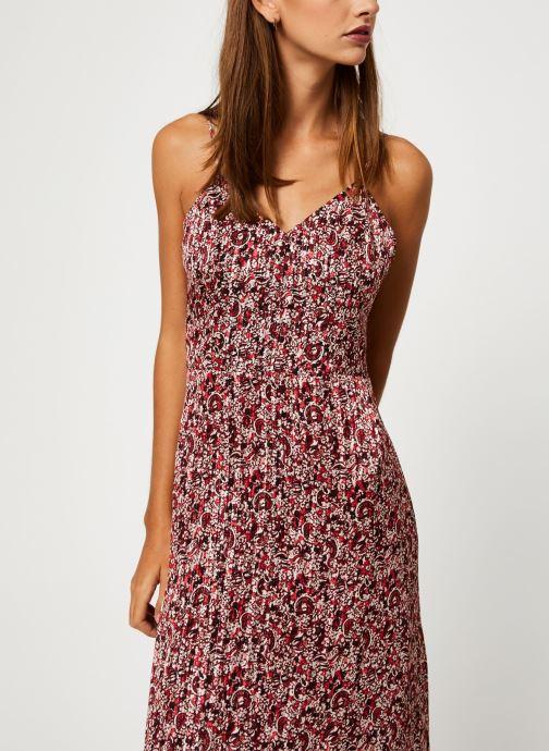 Vêtements IKKS Women Robe Longue Imprimée BP30515 Rouge vue droite