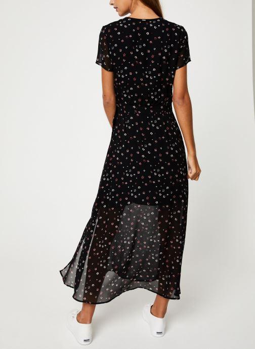 Vêtements IKKS Women Robe Longue Fleurie BP30535 Noir vue portées chaussures