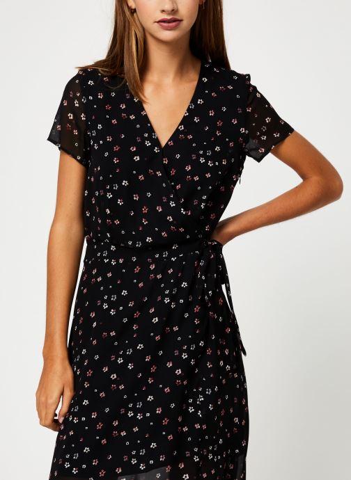Kleding IKKS Women Robe Longue Fleurie BP30535 Zwart detail