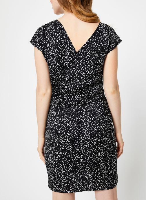 Vêtements IKKS Women Robe imprimé Animal BP30585 Noir vue portées chaussures