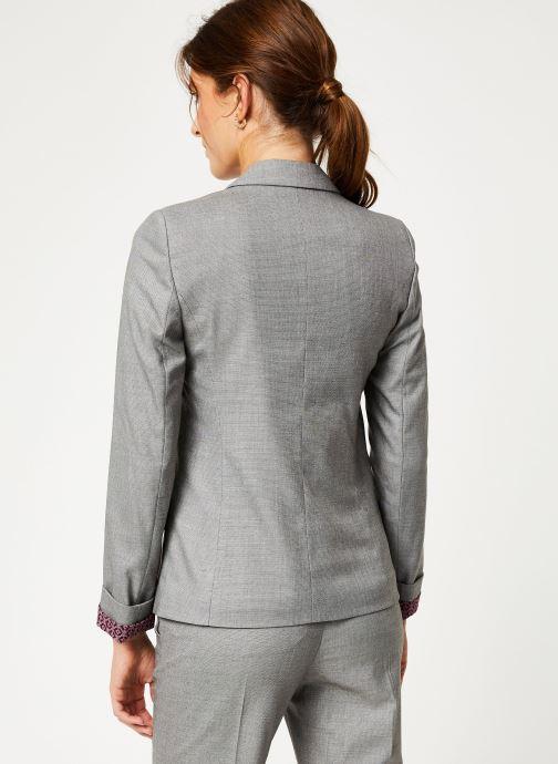 Vêtements IKKS Women Veste Tailleur Fil À Fil BP40025 Gris vue portées chaussures