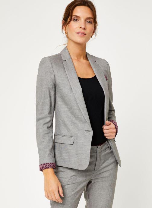 Vêtements IKKS Women Veste Tailleur Fil À Fil BP40025 Gris vue droite