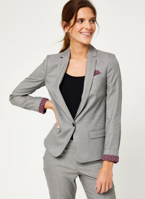 Vêtements IKKS Women Veste Tailleur Fil À Fil BP40025 Gris vue détail/paire