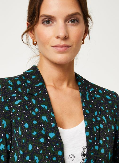Vêtements IKKS Women Veste Tailleur Léopard BP40035 Vert vue face