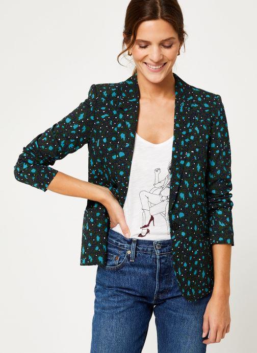 Vêtements IKKS Women Veste Tailleur Léopard BP40035 Vert vue détail/paire