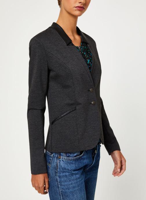 Vêtements IKKS Women Veste AnthraciteBP40045 Gris vue droite