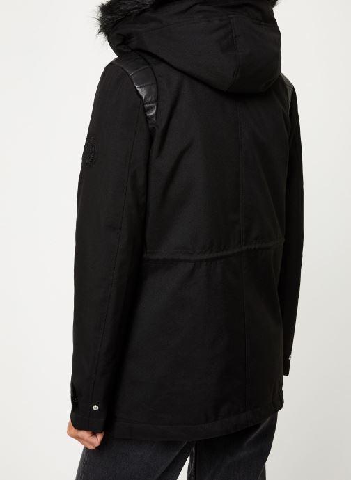 Vêtements IKKS Women Parka Premium BP42155 Noir vue portées chaussures