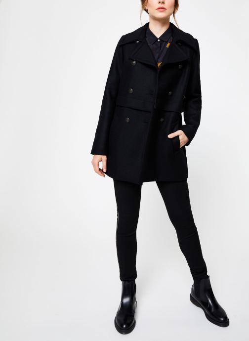 Vêtements IKKS Women Manteau Long Laine BP44015 Noir vue bas / vue portée sac