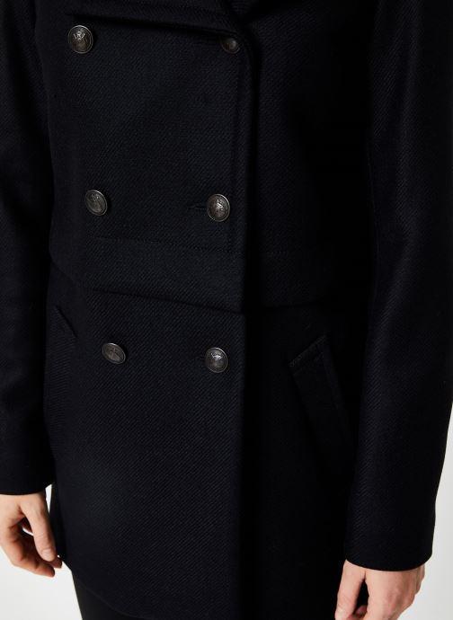 Vêtements IKKS Women Manteau Long Laine BP44015 Noir vue face