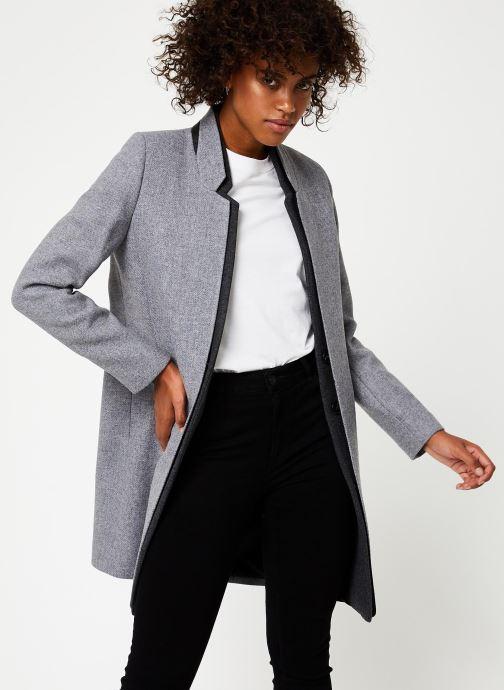 Vêtements IKKS Women Manteau Long Laine Gris BP44025 Gris vue détail/paire