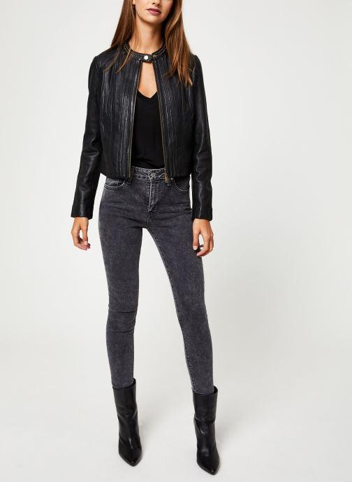 Vêtements IKKS Women Blouson Cuir Noir BP48055 Noir vue bas / vue portée sac