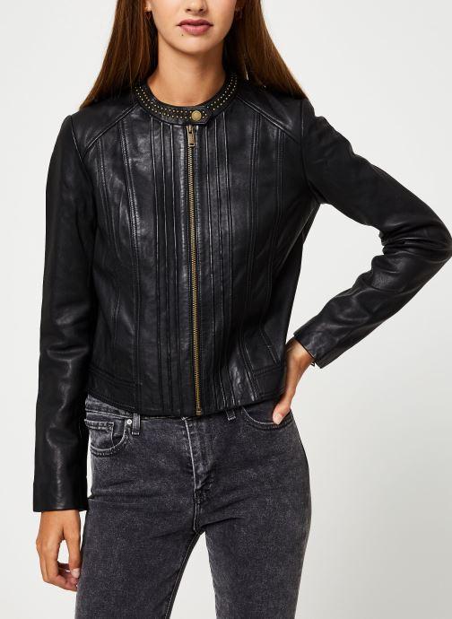 Vêtements IKKS Women Blouson Cuir Noir BP48055 Noir vue droite
