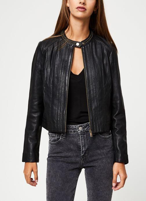 Vêtements IKKS Women Blouson Cuir Noir BP48055 Noir vue détail/paire