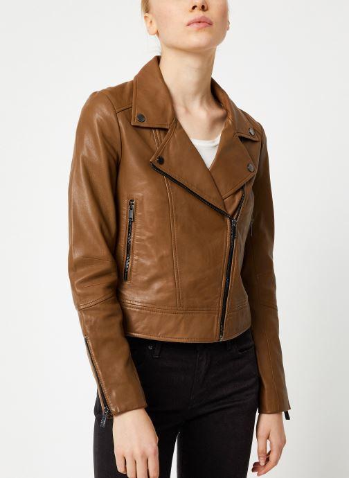 Vêtements IKKS Women Perfecto Cuir Camel BP48085 Marron vue détail/paire