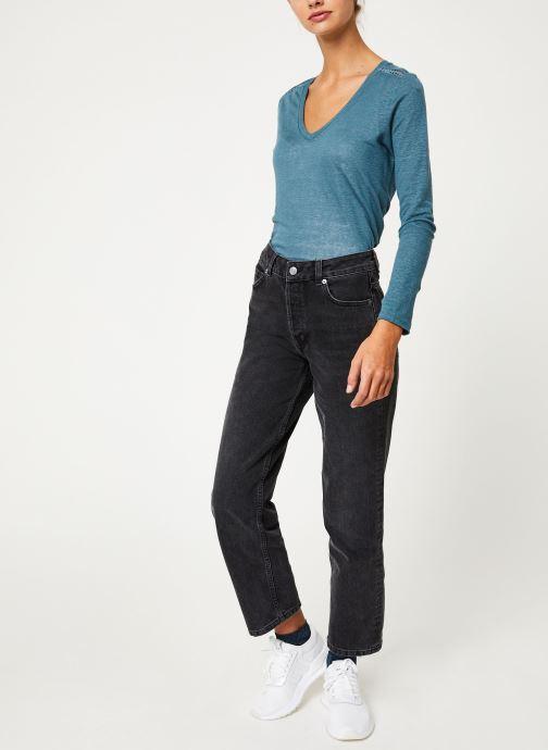 Vêtements IKKS Women Tee-Shirt ML BP10215 Vert vue bas / vue portée sac