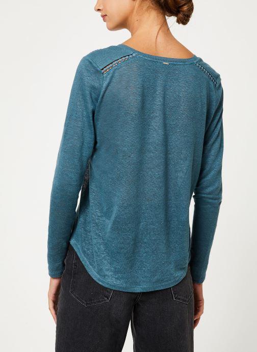 Vêtements IKKS Women Tee-Shirt ML BP10215 Vert vue portées chaussures