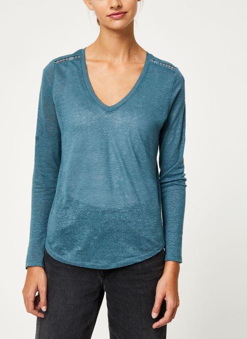 Kleding IKKS Women Tee-Shirt ML BP10215 Groen rechts