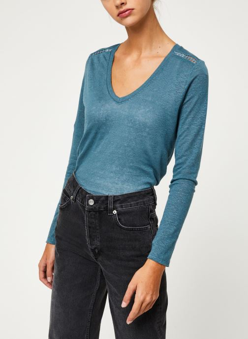 Kleding IKKS Women Tee-Shirt ML BP10215 Groen detail