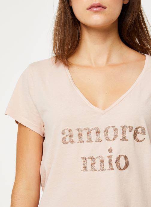 Vêtements IKKS Women Tee-Shirt Amore Moi BP10625 Beige vue face