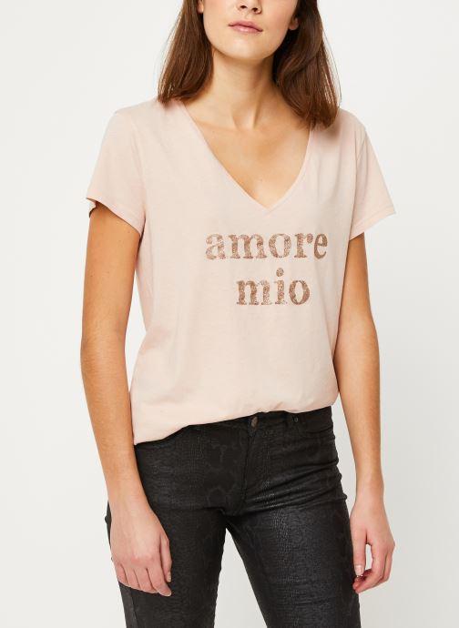 Vêtements IKKS Women Tee-Shirt Amore Moi BP10625 Beige vue détail/paire