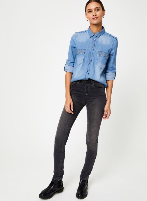 Vêtements IKKS Women Chemise Denim BP12345 Bleu vue bas / vue portée sac