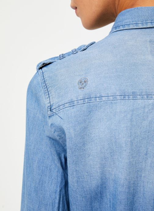 Vêtements IKKS Women Chemise Denim BP12345 Bleu vue face