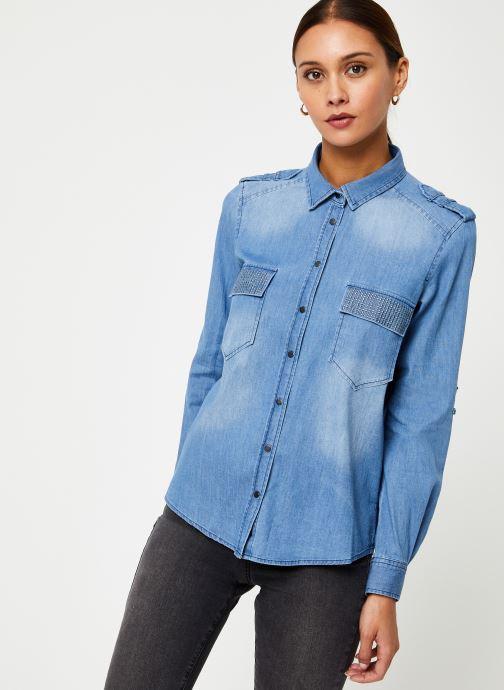 Vêtements IKKS Women Chemise Denim BP12345 Bleu vue droite