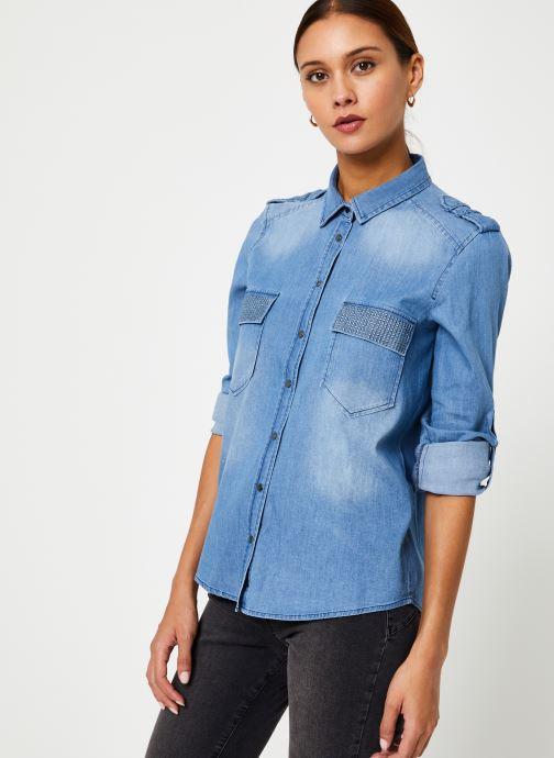 Vêtements IKKS Women Chemise Denim BP12345 Bleu vue détail/paire