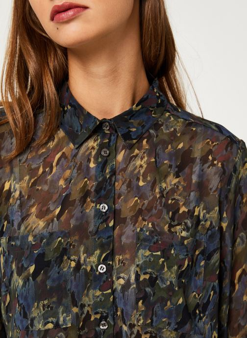 Vêtements IKKS Women Chemise Camouflage BP12375 Vert vue face
