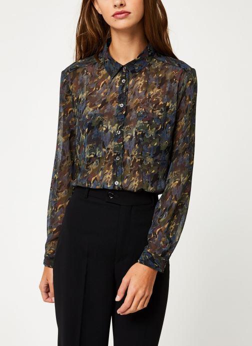 Vêtements IKKS Women Chemise Camouflage BP12375 Vert vue détail/paire