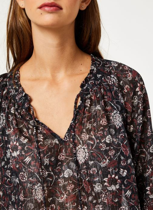 Vêtements IKKS Women Blouse Imprimé BP13355 Noir vue face