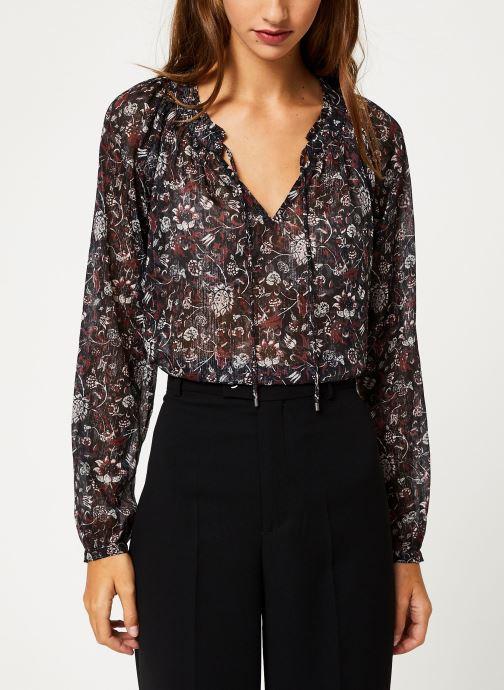 Vêtements IKKS Women Blouse Imprimé BP13355 Noir vue détail/paire