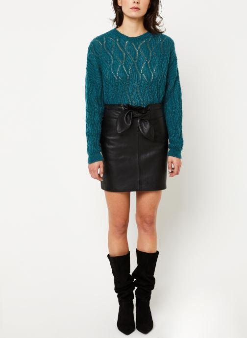 Vêtements IKKS Women Pull Mohair BP18405 Bleu vue bas / vue portée sac