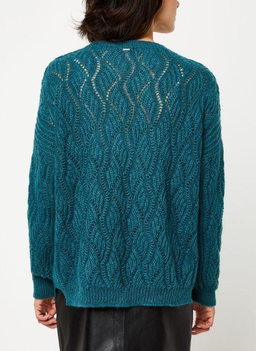 Vêtements IKKS Women Pull Mohair BP18405 Bleu vue portées chaussures