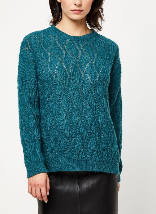 Vêtements IKKS Women Pull Mohair BP18405 Bleu vue droite