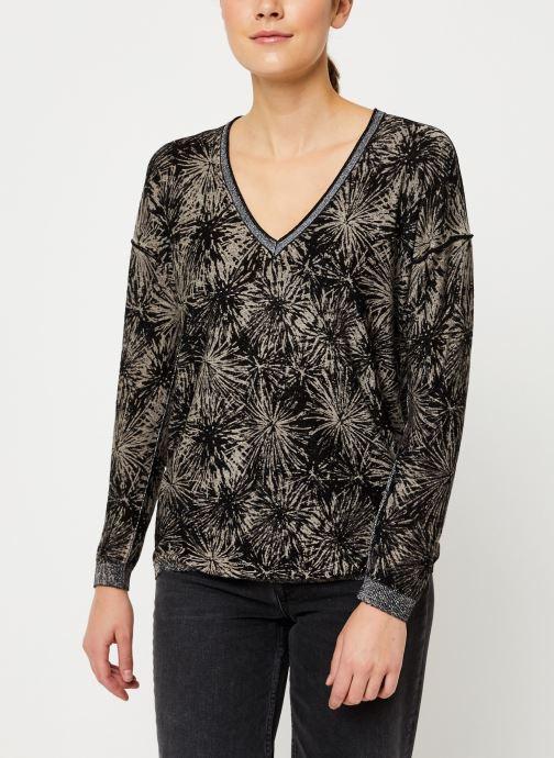 Vêtements IKKS Women Pull Imprimé Feu d'Artifice BP18485 Noir vue droite