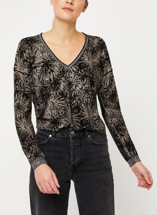Vêtements IKKS Women Pull Imprimé Feu d'Artifice BP18485 Noir vue détail/paire