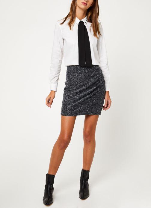 Vêtements IKKS Women Jupe Noire Mi-Cuisse Maille BP27265 Noir vue bas / vue portée sac