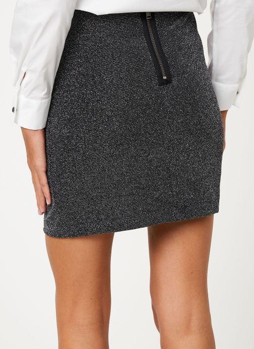 Vêtements IKKS Women Jupe Noire Mi-Cuisse Maille BP27265 Noir vue portées chaussures