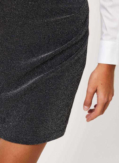 Vêtements IKKS Women Jupe Noire Mi-Cuisse Maille BP27265 Noir vue face