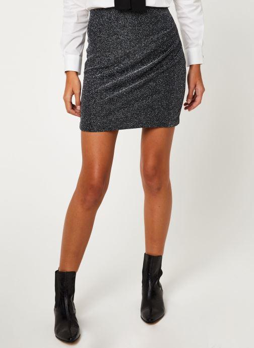 Vêtements IKKS Women Jupe Noire Mi-Cuisse Maille BP27265 Noir vue détail/paire