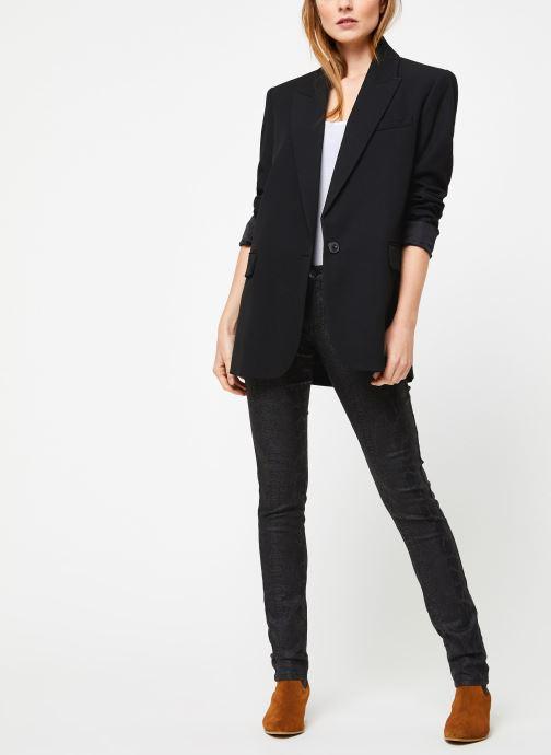Vêtements IKKS Women Jean Denim Sculpt Up Noir Python BP29335 Noir vue bas / vue portée sac