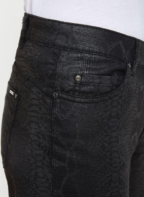 Vêtements IKKS Women Jean Denim Sculpt Up Noir Python BP29335 Noir vue face