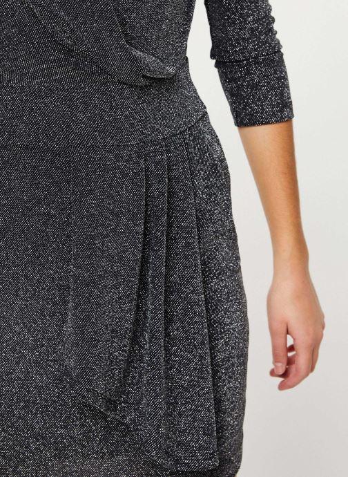 Vêtements IKKS Women Robe Mi-Cuisse Maille Lurex BP30695 Noir vue face