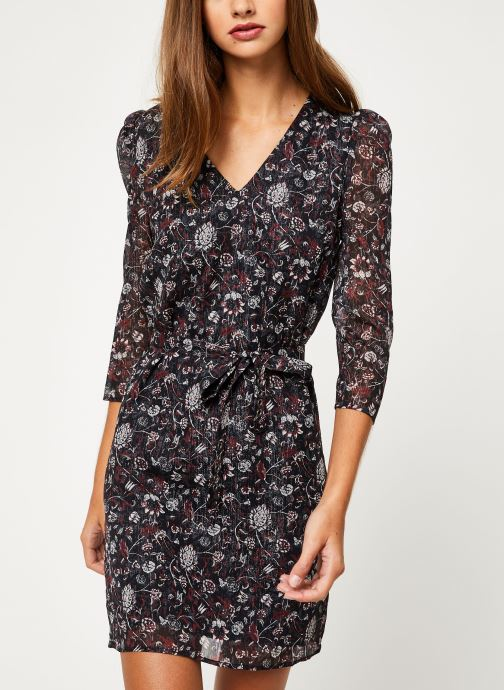 Kleding IKKS Women Robe Mi-Cuisse Imprimé BP30705 Zwart detail