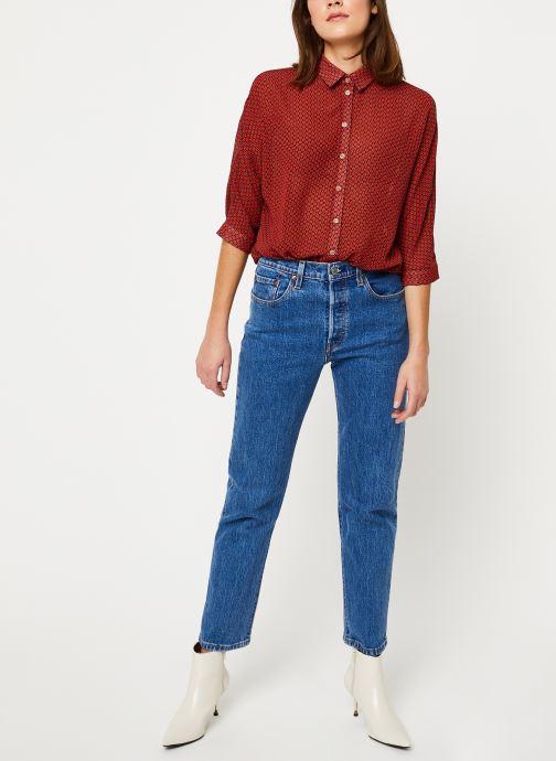 Vêtements Yuka BLOUSE BILLIE Rouge vue bas / vue portée sac