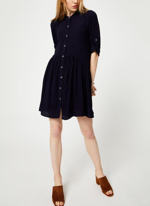 Vêtements Yuka ROBE RAFAELA Bleu vue bas / vue portée sac