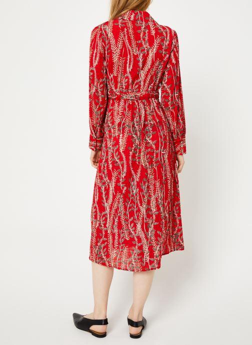 Vêtements Yuka ROBE ROMY Rouge vue portées chaussures