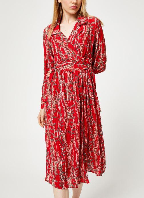 Vêtements Yuka ROBE ROMY Rouge vue détail/paire