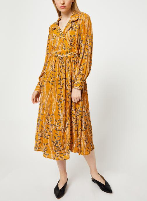 Vêtements Yuka ROBE ROMY Jaune vue bas / vue portée sac